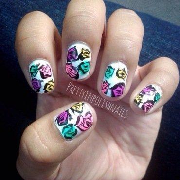 Neon Floral Spring Nails nail art by Prettyinpolishnails
