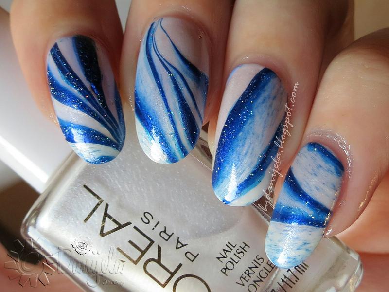 Water marble nail art nail art by bydanijela