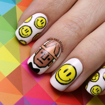 31dc2014 inspierd by a song pharrell williams happy smile nails nail art nailart                              lets nail moscow 1 thumb370f