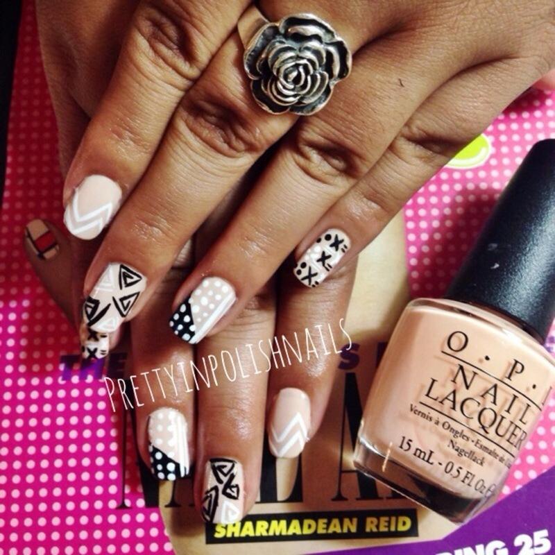 Mix & Match Nails nail art by Prettyinpolishnails
