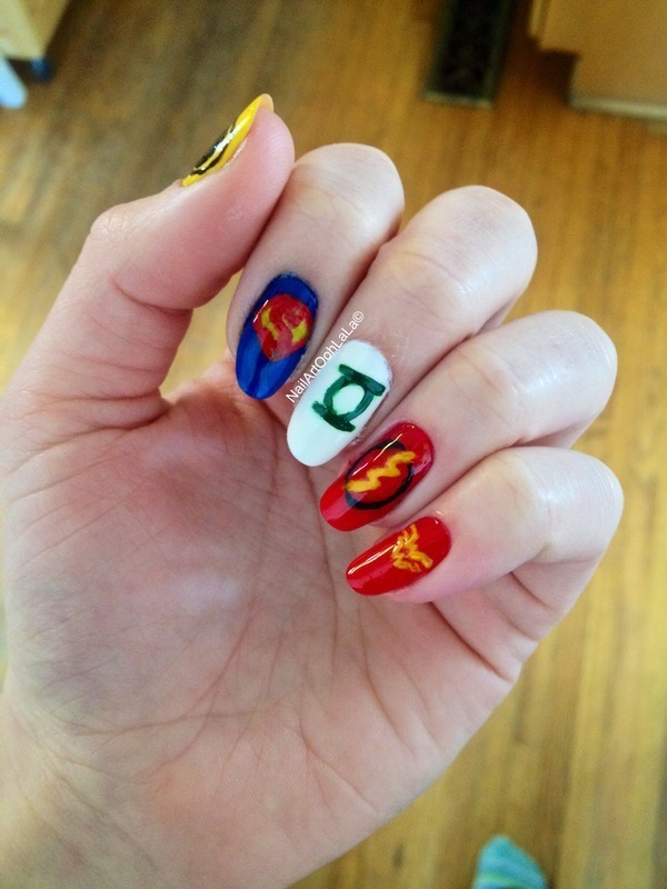 DC Comic nail art by Susie