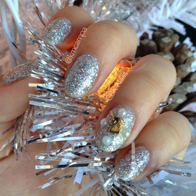 Unicorn Nails nail art by Kasey Campa