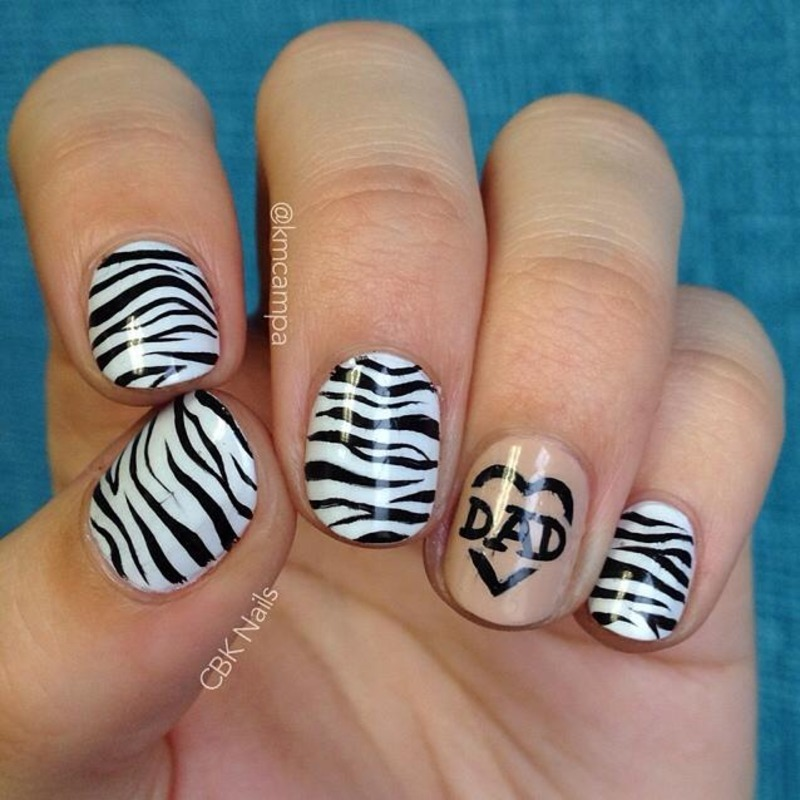 Neuroendocrine Carcinoma Support nail art by Kasey Campa