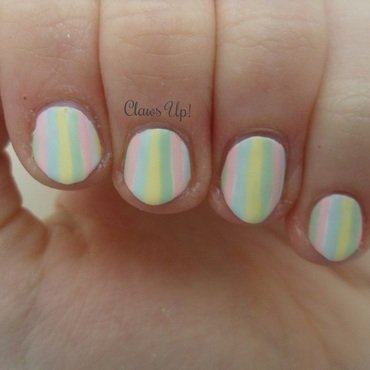 Spring Pastel Stripes nail art by Jacquie