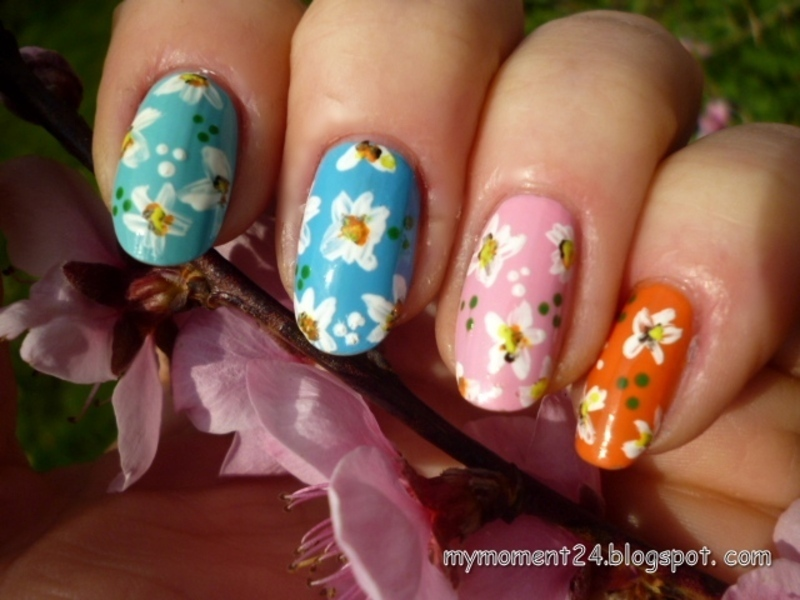 Spring II. nail art by T. Andi