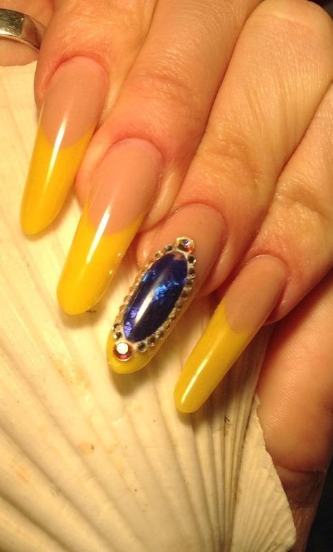 Sunshine nail art by Gundega