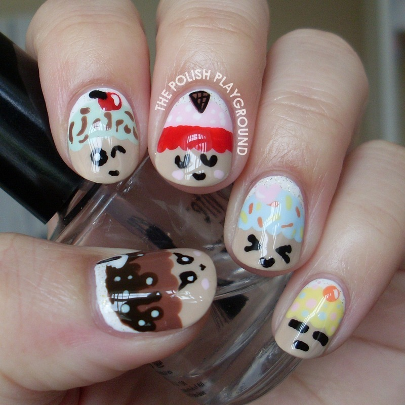 Kawaii Cupcake Nails nail art by Lisa N