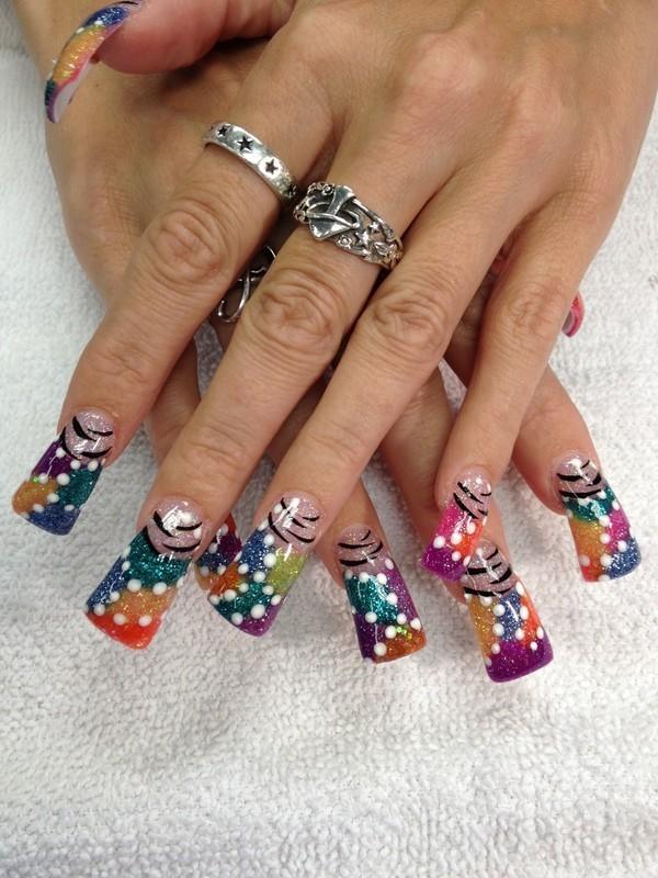 carnival nail art by nailsbydesign