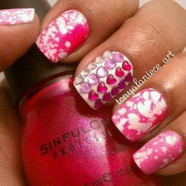 Water Spotted Manicure nail art by Tonya