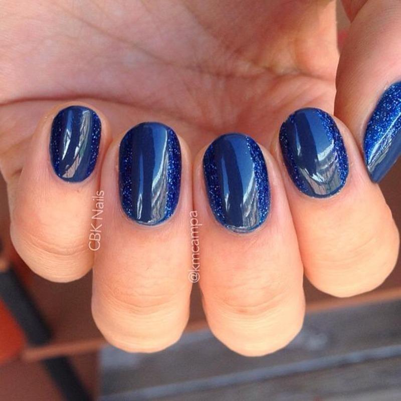 Tone-on-Tone Nails nail art by Kasey Campa
