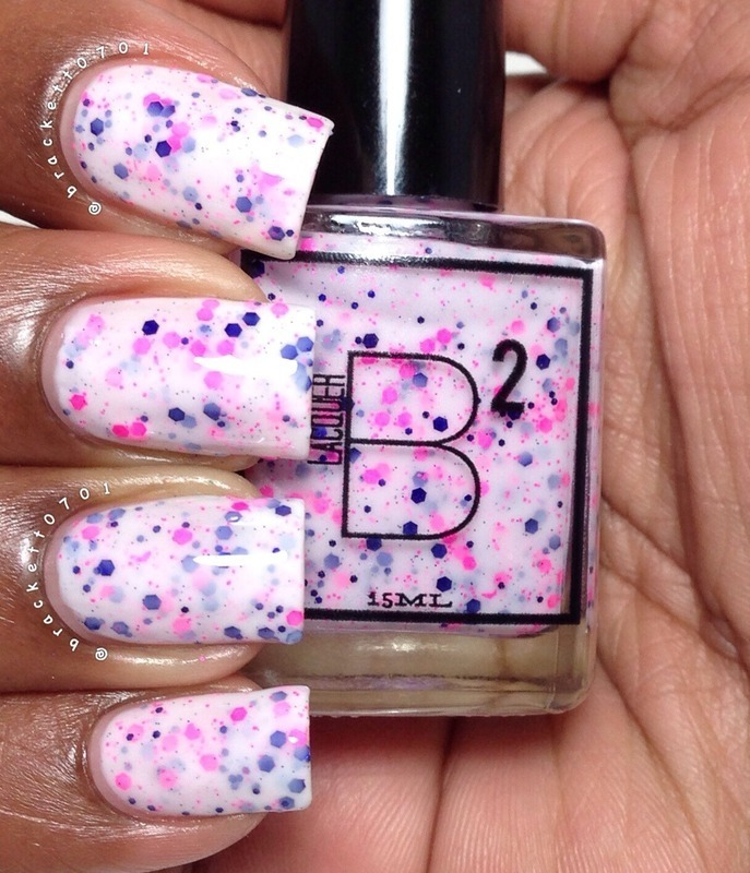 B Squared Lacquer Body Electric Swatch by Nicole Brackett