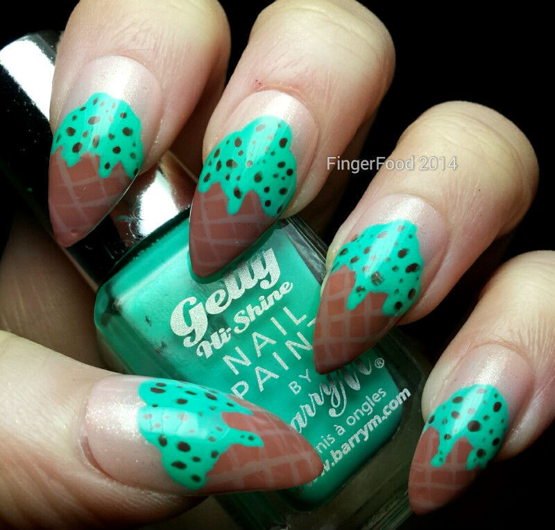 Mint Choc Chip nail art by Sam