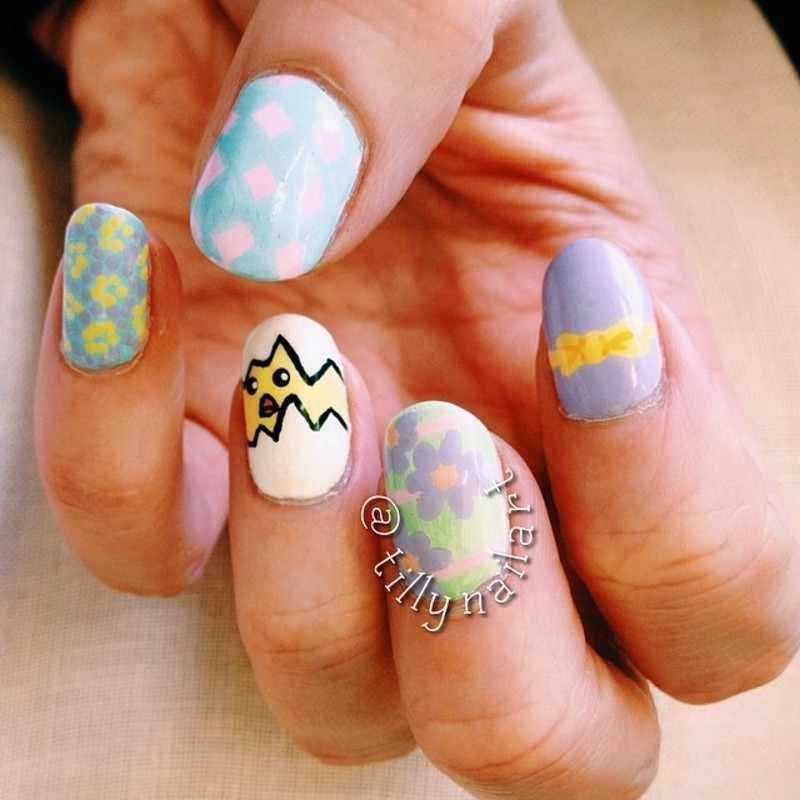 New Life nail art by Tilly  Hawkins