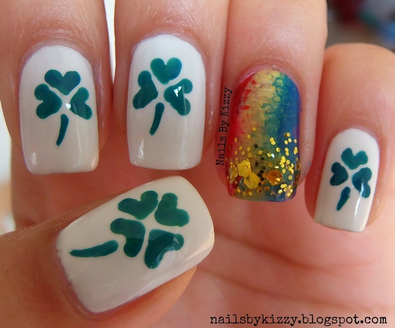 St. Patrick's Day nails! nail art by Kizzy