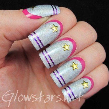 We started a fight that ended in silent confusion nail art by Vic 'Glowstars' Pires