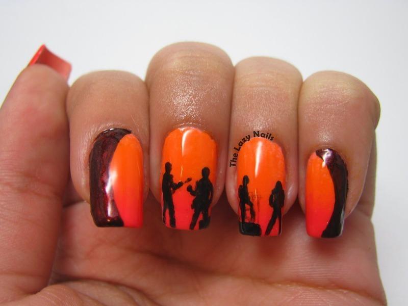 Get Lucky nail art by Hadas Drukker