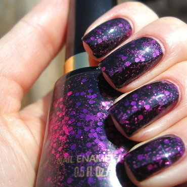 Revlon Scandalous and Revlon Facets of Fuschia Swatch by Donner