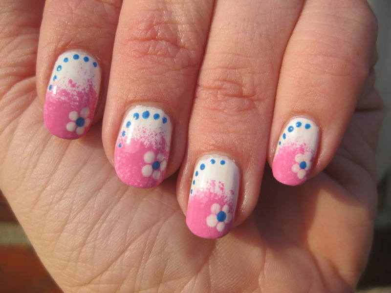 Cute Spring nail art by Vicky
