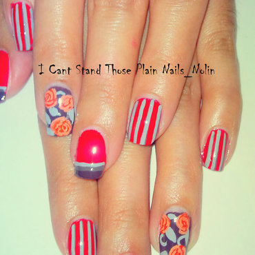 Red Spring  nail art by Arnolin Modokh