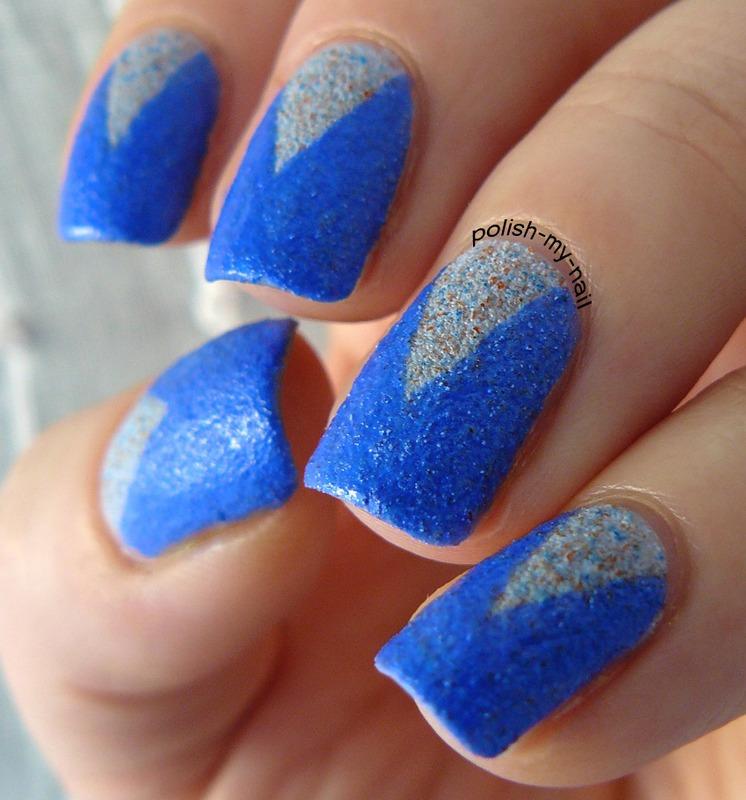Sandy chevron nail art by Ewlyn