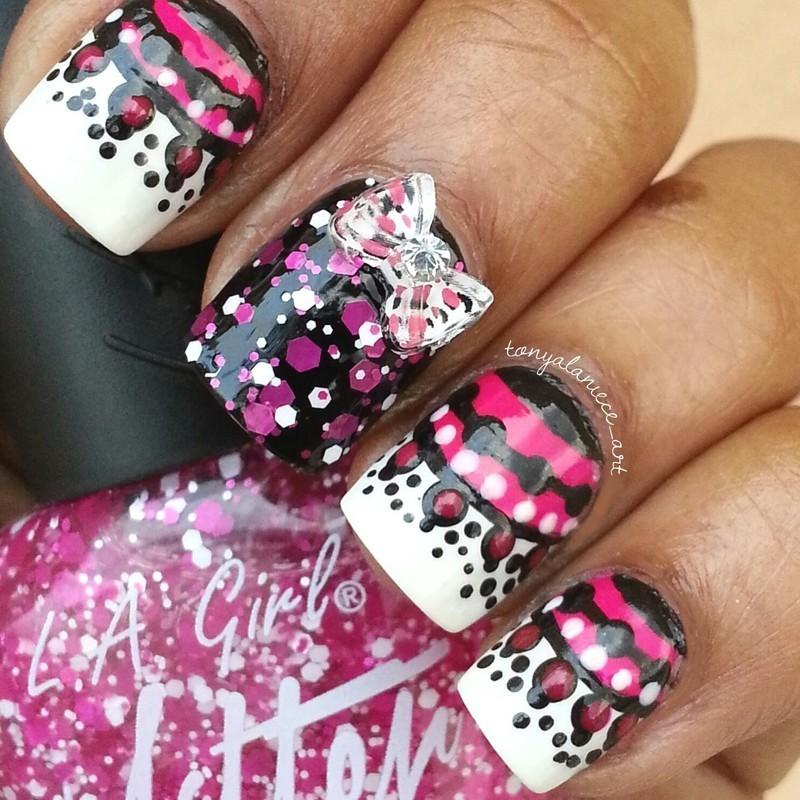 Dotticure nail art by Tonya