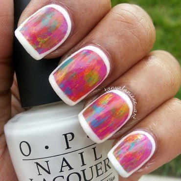 Weathered Spring Manicure nail art by Tonya