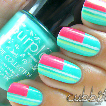 Mint Geometric Goodness nail art by Cubbiful