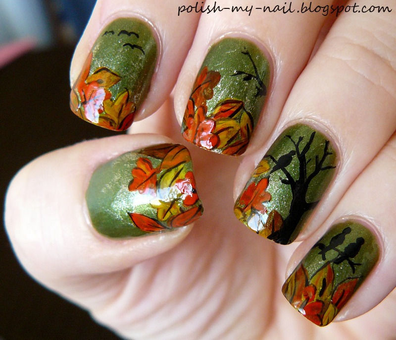 Fall nail art by Ewlyn