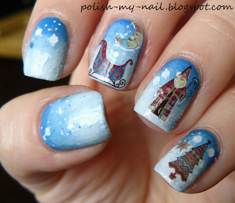 Christmas nail art by Ewlyn