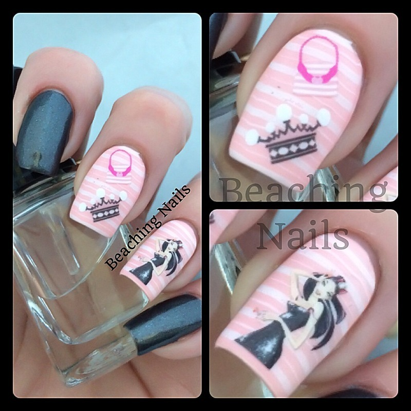 Girly - Girl Mani nail art by Beachingnails