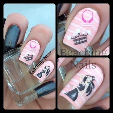 Girly - Girl Mani nail art by Beachingnails