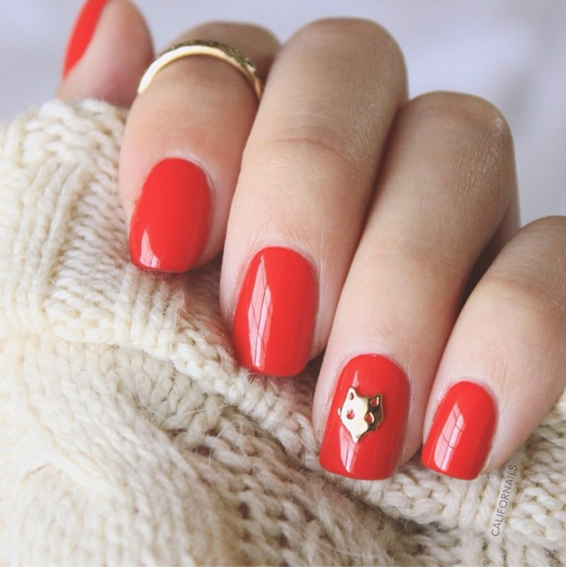 Foxy Red Nails nail art by Jasmine (Californails)