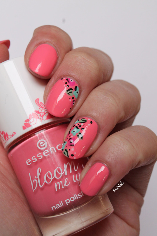 Spring Flower nail art by Fran Nails