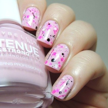 Pastel pink and neon glitter  1  thumb370f
