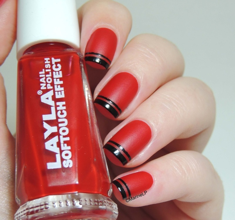 Double French Mani nail art by Marine Loves Polish