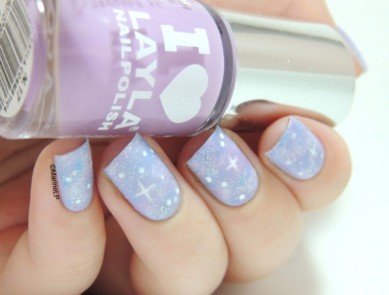 Pastel Galaxy nail art by Marine Loves Polish