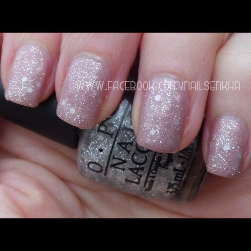 Opi Tickle my france-y. Opi Piroutte my whistle. nail art by Nailsenkha