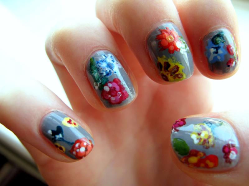 Fiori nail art by Madie