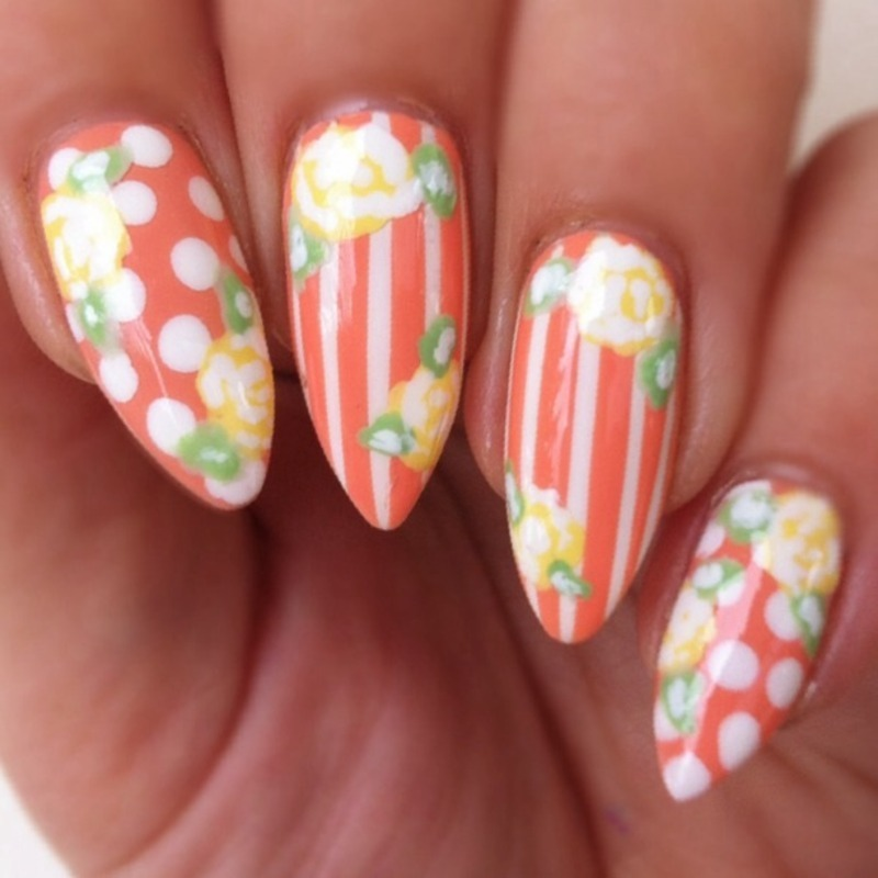 Spring Fling  nail art by Stacey Lee  Warren