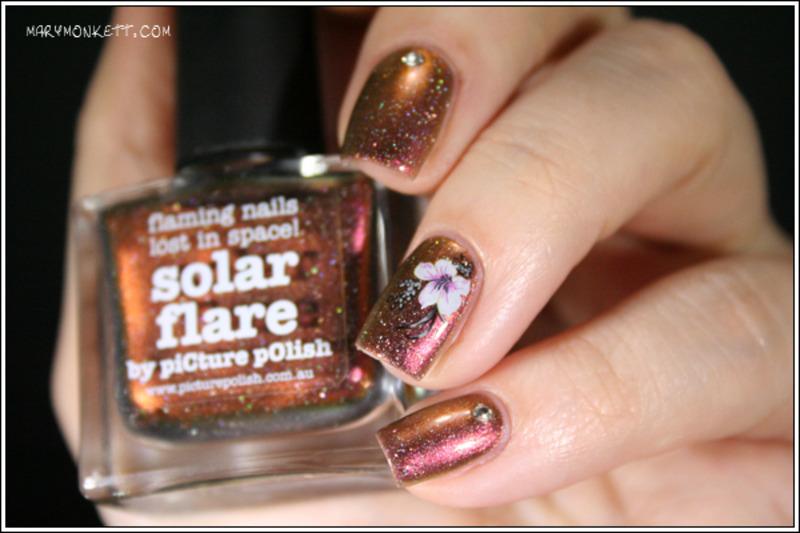 Solar Flare nail art by Mary Monkett