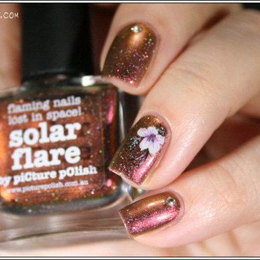 Solar Flare nail art by Mary Monkett
