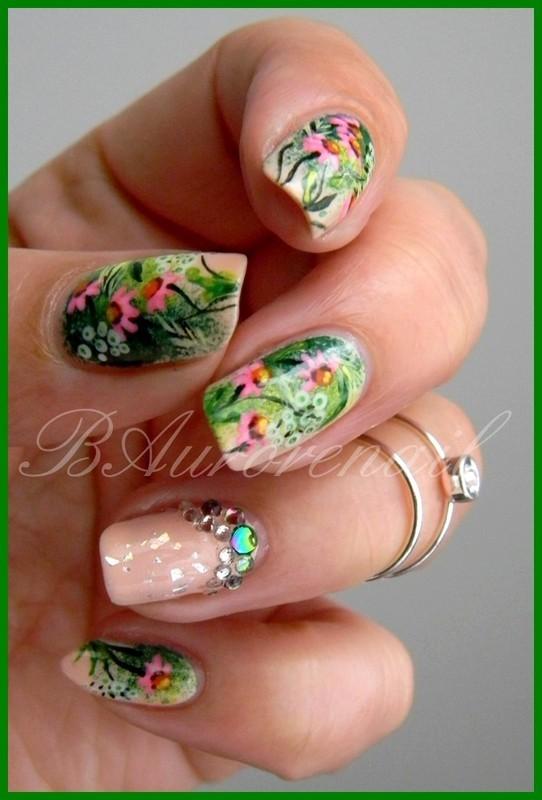 My Prairie Garden nail art by BAurorenail