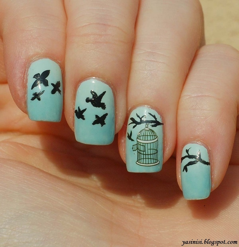 Freedom nail art by Yasinisi