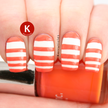 Orange white stripes nails inc porchester place ig thumb370f