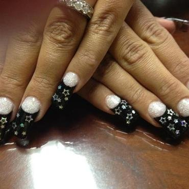 evening stars nail art by nailsbydesign
