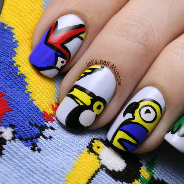 31dc2014 inspired by fashion topshop blue tropical bird ankle socks                                     nails nail art nailart               lets nail moscow 1 thumb370f
