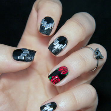 Rock'n'Roll nails nail art by Chasing Shadows