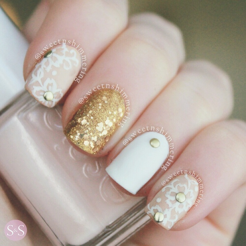 Subtle chic nail art by SweetnShimmering