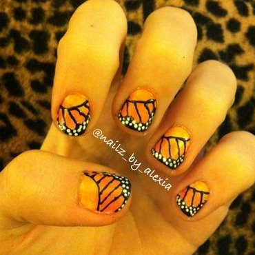 Butterfly nail art by nailz_by_alexia