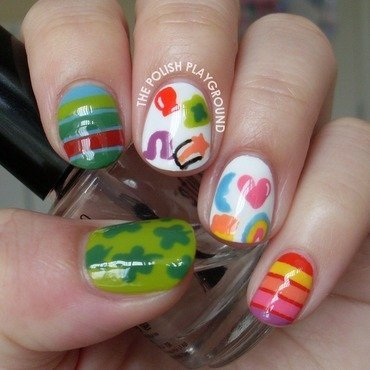 Lucky Charms Cereal Nail Art nail art by Lisa N